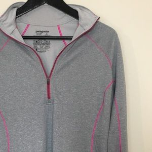 Patagonia Sz L Capilene Midweight 3 grey pullover